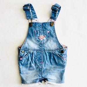 Souris Mini Lace Trim Short Overalls